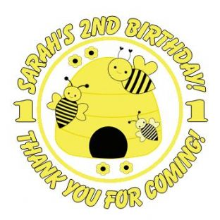 Personalised Bumble Bee Party Stickers